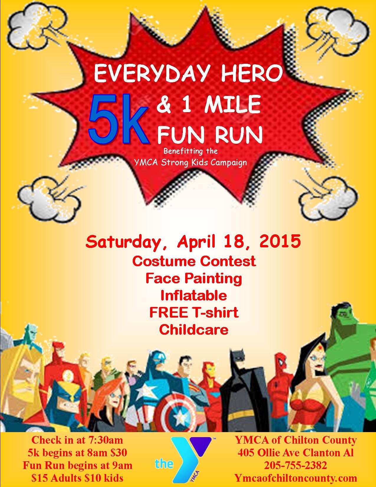 5k superhero flyer